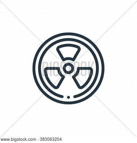 nuclear icon isolated on white background from laboratory collection. nuclear icon trendy and modern