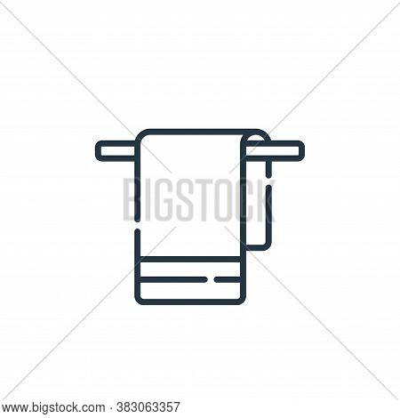 towel icon isolated on white background from hygiene routine collection. towel icon trendy and moder
