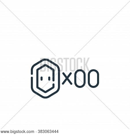 coin icon isolated on white background from videogame elements collection. coin icon trendy and mode