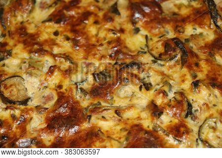 homemade tart pastry with spinach ,bacon, florentine quiche, cheese