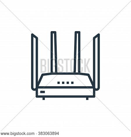router icon isolated on white background from computer hardware collection. router icon trendy and m