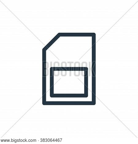 micro sd icon isolated on white background from computer hardware collection. micro sd icon trendy a