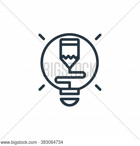 creative process icon isolated on white background from online learning part line collection. creati
