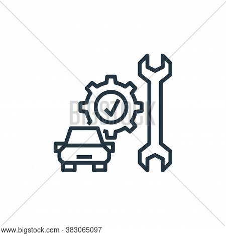 maintenance icon isolated on white background from car service collection. maintenance icon trendy a