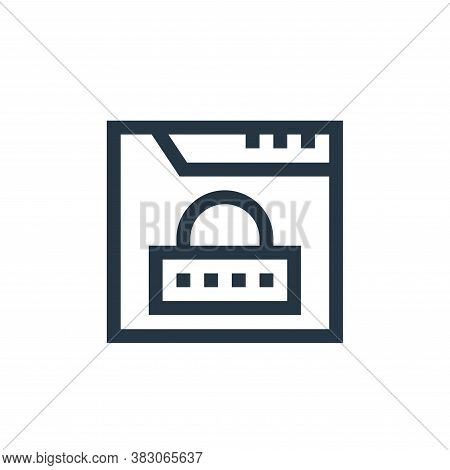 padlock icon isolated on white background from web maintenance collection. padlock icon trendy and m