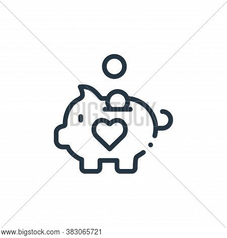 piggy bank icon isolated on white background from charity collection. piggy bank icon trendy and mod