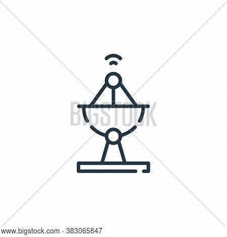 satellite dish icon isolated on white background from smart city collection. satellite dish icon tre