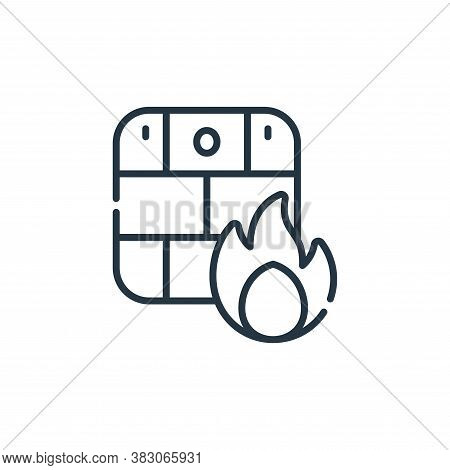 firewall icon isolated on white background from cyber security collection. firewall icon trendy and