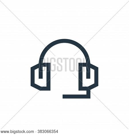 headset icon isolated on white background from web maintenance collection. headset icon trendy and m