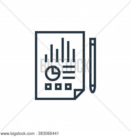 statement icon isolated on white background from banking collection. statement icon trendy and moder