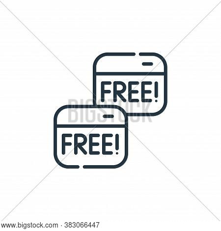 free icon isolated on white background from cyber security collection. free icon trendy and modern f