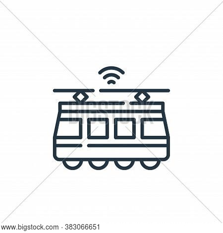 tram icon isolated on white background from smart city collection. tram icon trendy and modern tram