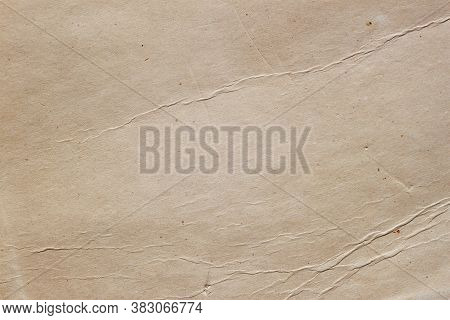 Grunge Old Paper Surface Texture With Specks, Folds, Wrinkles