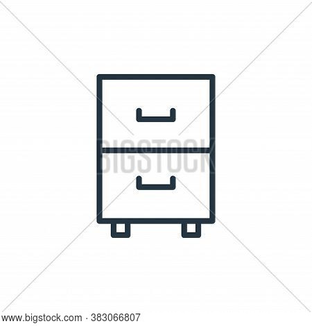 drawer icon isolated on white background from office collection. drawer icon trendy and modern drawe