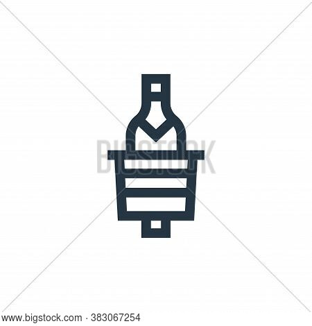 ice bucket icon isolated on white background from celebration collection. ice bucket icon trendy and