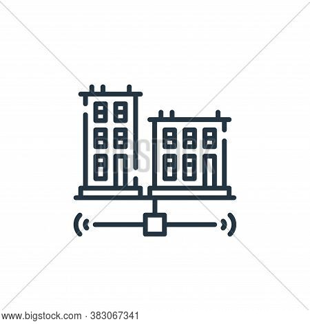 city icon isolated on white background from smart city collection. city icon trendy and modern city