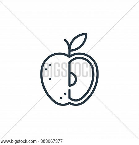 apple icon isolated on white background from food and drinks allergy collection. apple icon trendy a