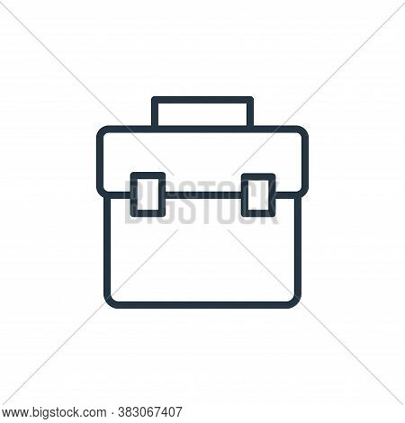 suitcase icon isolated on white background from office collection. suitcase icon trendy and modern s