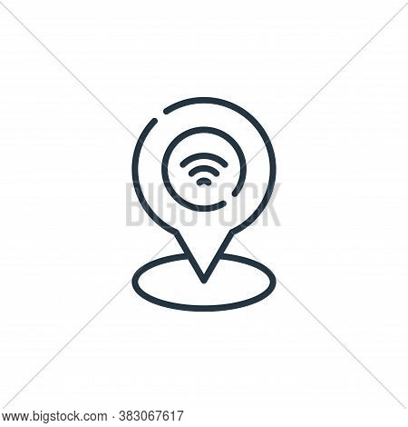 wifi icon isolated on white background from smart city collection. wifi icon trendy and modern wifi