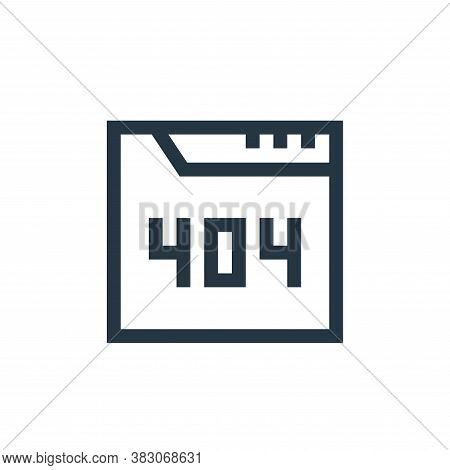 error icon isolated on white background from web maintenance collection. error icon trendy and moder