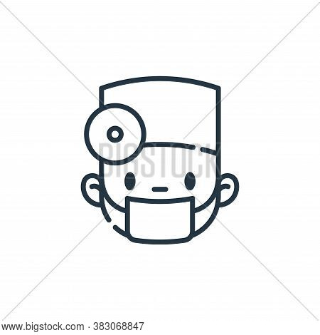 surgeon icon isolated on white background from dentist collection. surgeon icon trendy and modern su