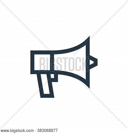 megaphone icon isolated on white background from web maintenance collection. megaphone icon trendy a