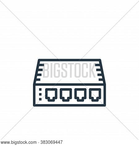 hub icon isolated on white background from computer hardware collection. hub icon trendy and modern
