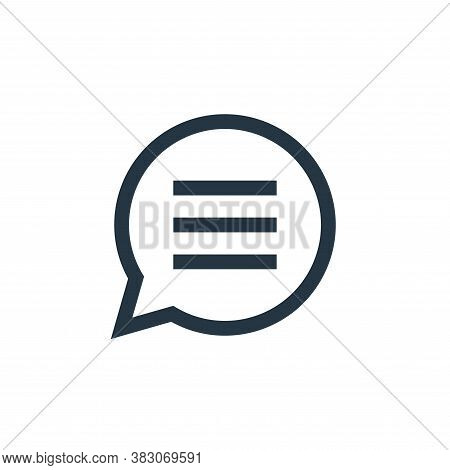 chat box icon isolated on white background from basic ui collection. chat box icon trendy and modern