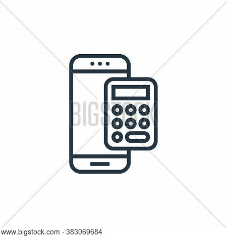 accounting icon isolated on white background from banking collection. accounting icon trendy and mod