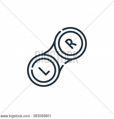 contact lens icon isolated on white background from hygiene routine collection. contact lens icon tr