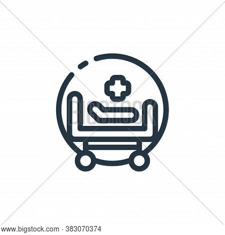 hospital bed icon isolated on white background from hospital collection. hospital bed icon trendy an