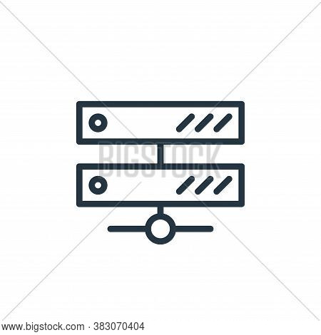 server icon isolated on white background from working in the office collection. server icon trendy a
