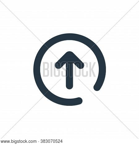 arrow up icon isolated on white background from user interface collection. arrow up icon trendy and