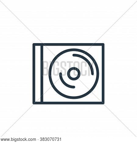 disc icon isolated on white background from working in the office collection. disc icon trendy and m