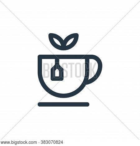 tea icon isolated on white background from quit smoking collection. tea icon trendy and modern tea s