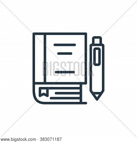 study icon isolated on white background from online learning part line collection. study icon trendy
