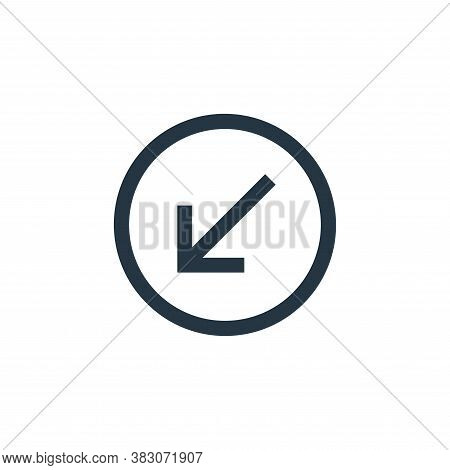 bottom left icon isolated on white background from basic ui collection. bottom left icon trendy and