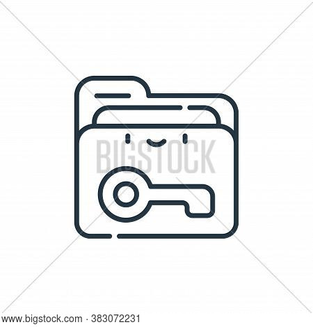 folder icon isolated on white background from cyber security collection. folder icon trendy and mode