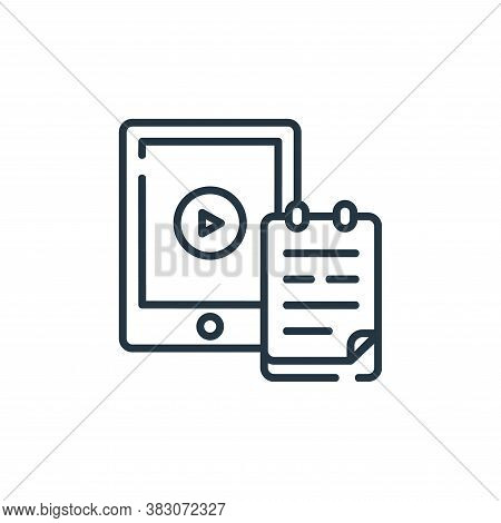 digital learning icon isolated on white background from digital learning collection. digital learnin