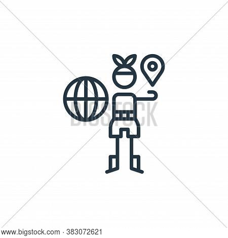 geography icon isolated on white background from arts collection. geography icon trendy and modern g