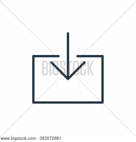 download file icon isolated on white background from user interface collection. download file icon t