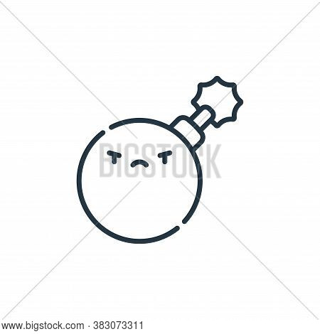 bomb icon isolated on white background from cyber security collection. bomb icon trendy and modern b
