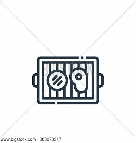 grill icon isolated on white background from cooking collection. grill icon trendy and modern grill