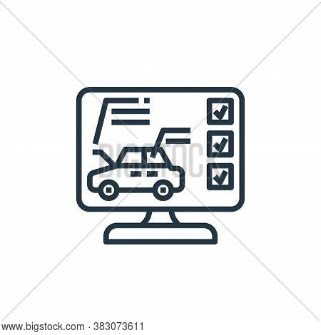 diagnostic icon isolated on white background from car service collection. diagnostic icon trendy and
