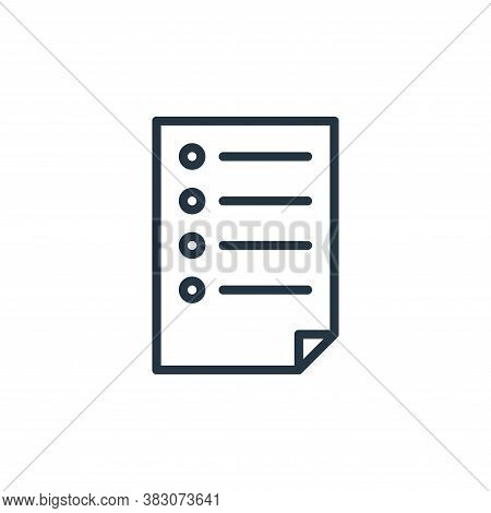 paper icon isolated on white background from office collection. paper icon trendy and modern paper s