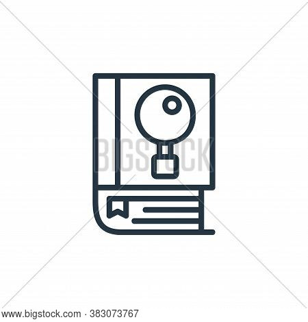 knowledge icon isolated on white background from online learning part line collection. knowledge ico