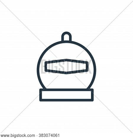 diving helmet icon isolated on white background from summer collection. diving helmet icon trendy an