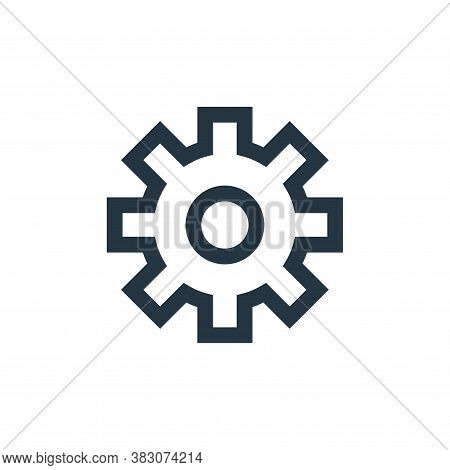 settings icon isolated on white background from basic ui collection. settings icon trendy and modern