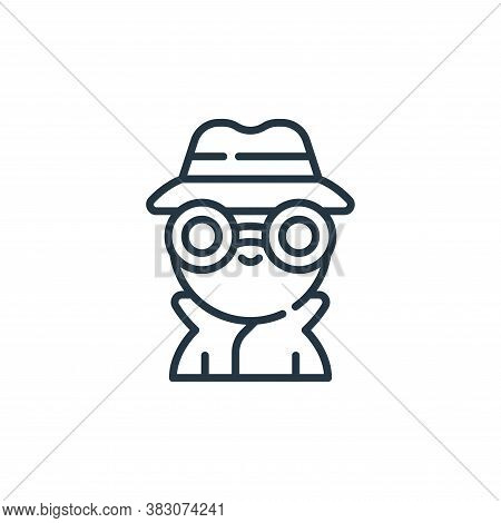 incognito icon isolated on white background from cyber security collection. incognito icon trendy an