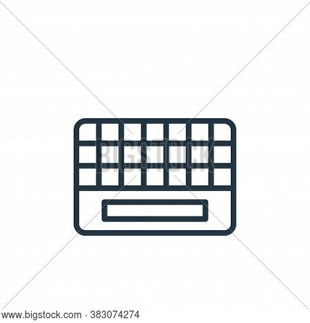 keyboard icon isolated on white background from office collection. keyboard icon trendy and modern k